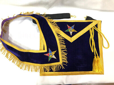 Masonic Order of the Eastern Star Apron and Collar, OES WORTHY PATRON /MATRON