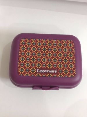 Tupperware Oyster Case Small Sandwich Keeper Lunch Box Printed Multi-purpose NEW