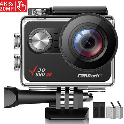 Campark Sports Camera WiFi FHD 4K Action Cam Touch Screen 20MP Video Helmet Cam