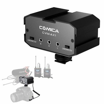 COMICA CVM-AX1 3.5mm Dual-Channel Microphone Audio Mixer Adapter For DSLR Camera