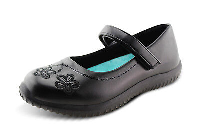 Hawkwell Girls School Uniform Shoes Little Kids Mary Jane Strap Dress Flat Black