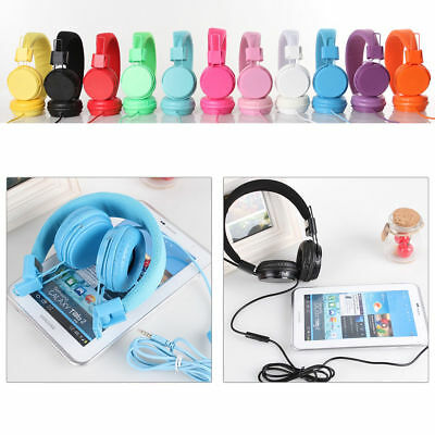 Kids/Children Headset  Earphones Over Wired Ear Headphones for iPad Tablet DD
