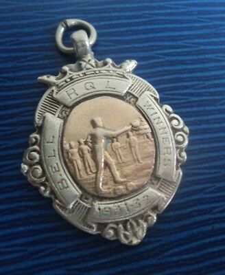 Sterling Silver & Gold Medal / Watch Fob / Pendant h/m 1931 Chester  - Quoits