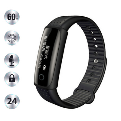 Voice Recorder Spy Wristband Watch 8GB Activated Bracelet Recording Wearable
