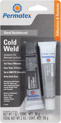 Permatex 14600 Cold Weld Bonding Compound, two 1oz 28g 2 tubes NEW