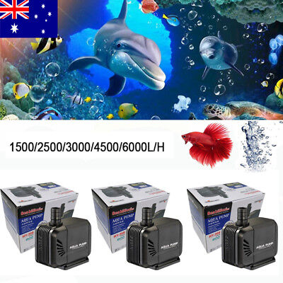 AU Aquarium Small Submersible Aqua Water Pump Fish Tank Pond Fountain  Feature