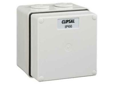 Clipsal 56-SERIES INDUSTRIAL JUNCTION BOX 91x101x101mm 1-Gang With Cover, Grey