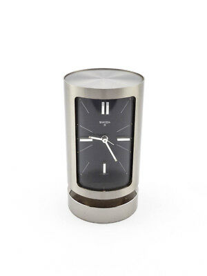 Swiza Table Clock with 8 day movement and alarm, 1960s