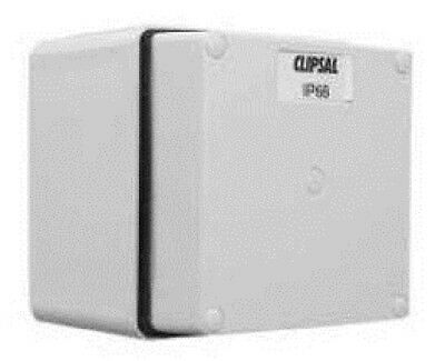 Clipsal INDUSTRIAL JUNCTION BOX CLI56JB1SWAGY 1-Gang, 3x20mm Entries, Grey