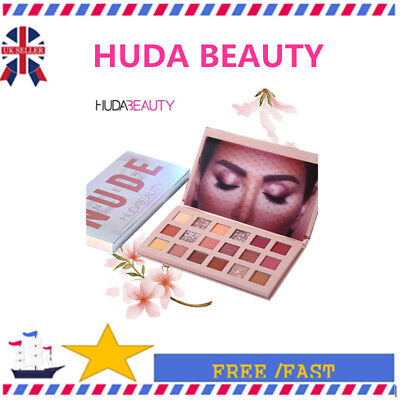 UK HUDA BEAUTY Rose Gold Edition Textured Eye Shadow Palette 18 Colours INS K8h
