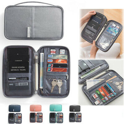 NEW Travel Wallet Passport Holder Organiser Pouch for Cards Documents Money IDs