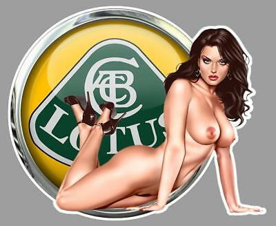 LOTUS PIN UP  right Sticker droite