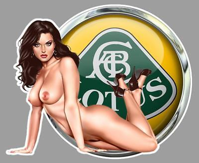 LOTUS PIN UP  left Sticker gauche