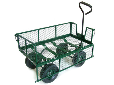 Large, Cage, Platform, Tough Heavy Duty, Outdoor Trolley + Liner & Shelf OT1006
