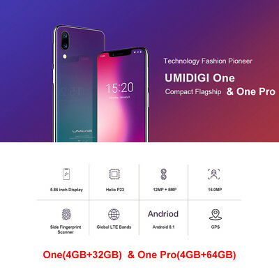 UMIDIGI One/One Pro/One Max 32/64/128GB 4G Smartphone Octa Core Android Phablet