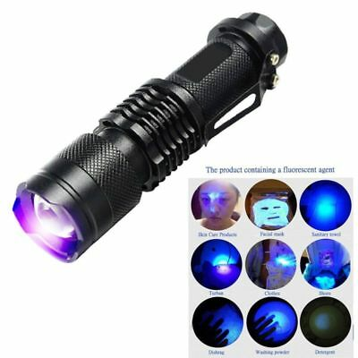 Ultra Violet LED Flashlight Blacklight Light 395/365 nM Inspection Lamp Torch UV