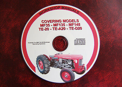 Massey Ferguson Mf35, Mf135, Mf148, Te20 'fergie' Workshop Service Repair Manual