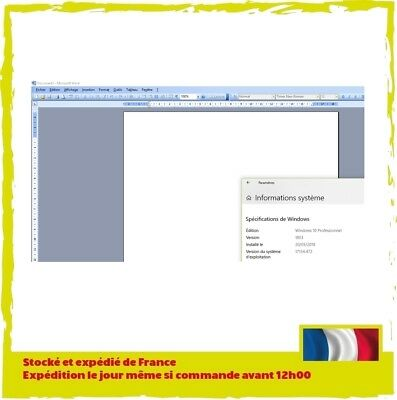 Pack office Petite entreprise 2003 Officiel - Compatible Windows 7/8/8.1/10