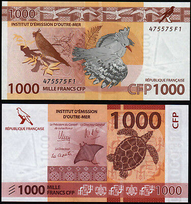 French Pacific Territories 1000 Francs (P6) N. D. (2014) Unc