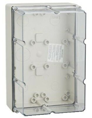 Clipsal INDUSTRIAL MOUNTING ENCLOSURE 294x198x140mm 6-Gang With Gear Tray, Grey