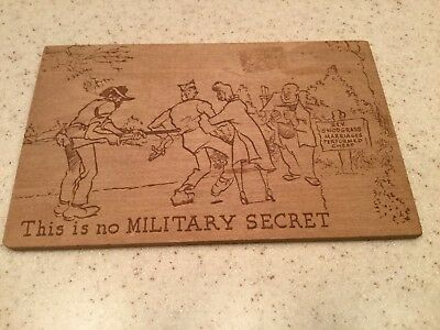 Vintage Wooden Postcard Military Dixie Novelty Company Rare Find Soldier