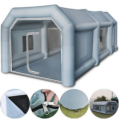 UK Inflatable Giant Car Workstation Spray Paint Tent Paint Booth Custom 8x4x3m