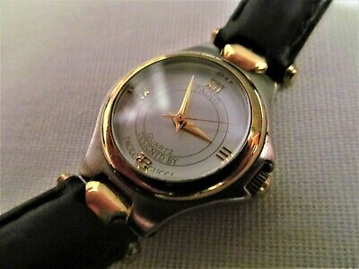 54e828ca666 LADIES PAOLO GUCCI 735 Quartz 2 Tone Leather Band Signed Watch ...