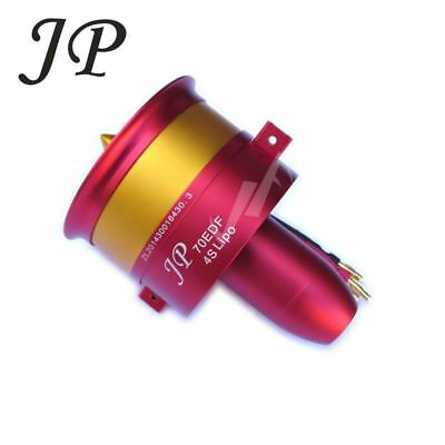 METAL JP/GP 70MM Ducted Fan EDF Jet 12 Blades 2s-6s Lipo Motor Electric for  RC a