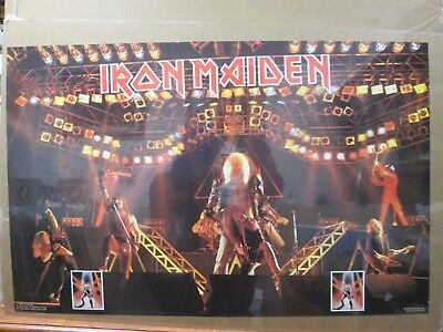 Vintage Post IRON MAIDEN rock heavy metal 1982 Inv#G3645