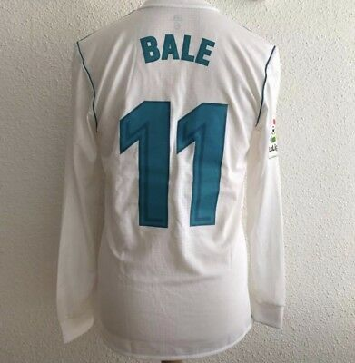 77cab320e18 Real Madrid Bale Wales Player Issue Shirt Adizero Match Prepared Football  Jersey