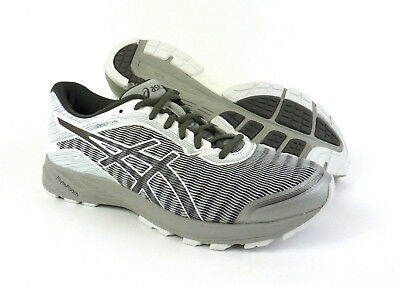 35597b489012 Asics DynaFlyte men running shoes sneakers trainers Mid Grey Carbon White  NIB