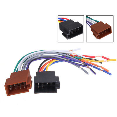 12V Universal Car Stereo Female Socket Radio Wire Harness ISO Adapter Connector