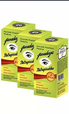 Jiwadaya Netraprabha Plus Ayurvedic Herbal Honey Base Eye Drops 10Ml (Pack Of 3)