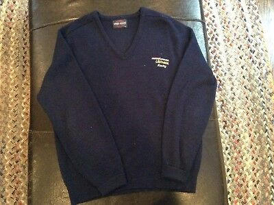 Vintage Amoco Ultimate Racing Gas Oil Blue Sweater Mens Size Large - cool
