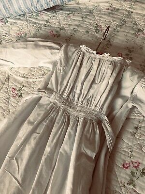 Beautiful Antique Victorian White Baby's Christening Gown, Lovely Hand Stitching