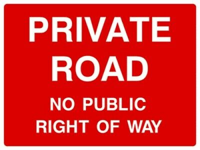 Private road - No public right of way sign