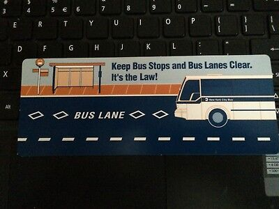 NEW YORK CITY TRANSIT-Keep bus stops and bus lanes clear It's the law!