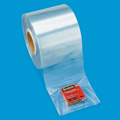 61aa3d5eeef Clear Shrink Tubing 4 inch Uline S-6636 2 rolls 4x1500ft New 100 Gauge