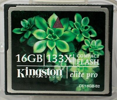 Kingston 16GB 133x compact flash card, including case.