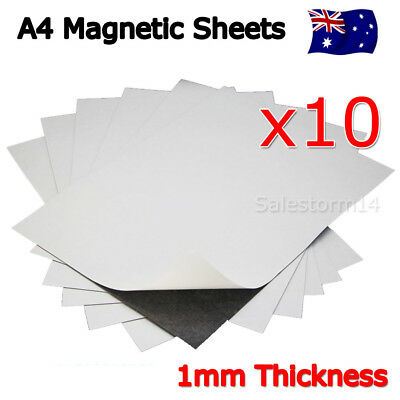 10X A4 Magnet Sheets Magnetic Self Adhesive 1.0mm Thickness Hand Crafts Material