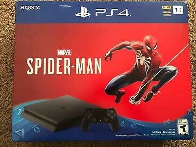 Sony PlayStation 4 Slim Marvel Spiderman Bundle - PS4 Console 1TB  SHIP FAST