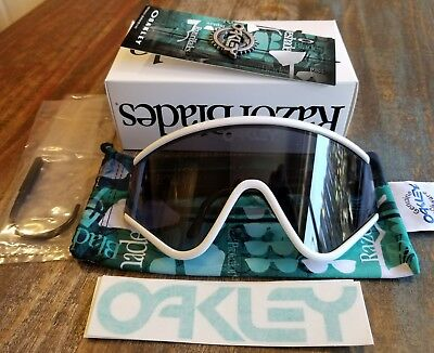 79d8a62363 ... free shipping new oakley eyeshade sunglasses white w grey retro heritage  collection bnib 096c5 553d3