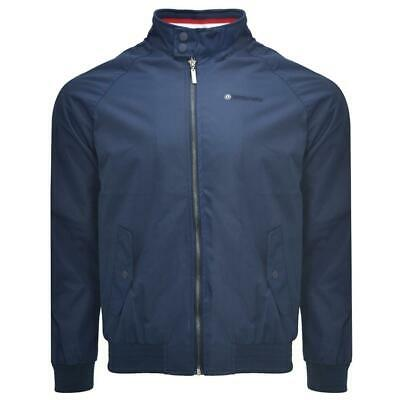 Lambretta Mens Navy Classic Oxford Harrington Ska Mod Scooter Jacket