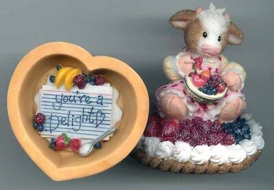 ❤MIXED FRUIT PIE❤Mary's Moo Moos❤ COW 2 PIECE SET❤RARE AND HTF