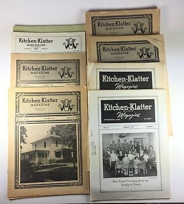 1941-1954 Kitchen Klatter magazines 37 Issues American story Supplement Recipe