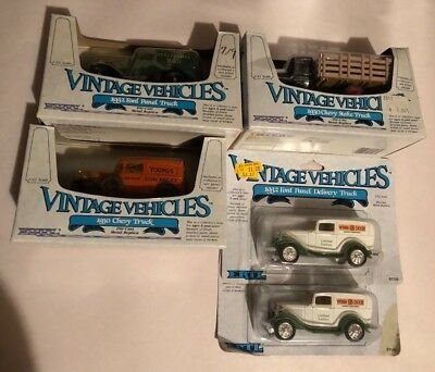 Lot of 5 Vintage ERTL Die Cast Vehicles *Chevy, Ford, & Winn Dixie Trucks* NEW