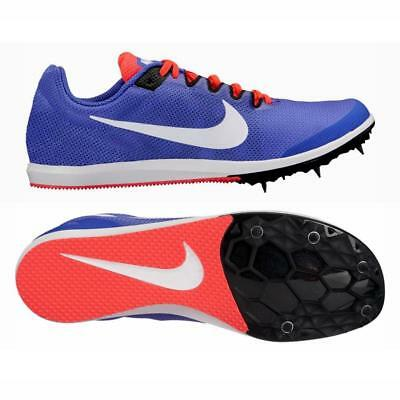 new product 1790f 2e3de NIKE Zoom Rival D Distance Track Spikes Running Shoes Size 11 Womens Blue  White