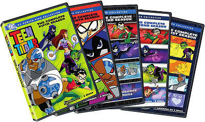 TEEN TITANS: THE COMPLETE ORIGINAL SERIES SEASONS 1-5 1 2 3 4 5 (10-DVD Set) NEW