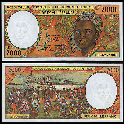 CENTRAL AFRICAN STATES 2000 FRANCS (P603Pg) 2000 CHAD UNC