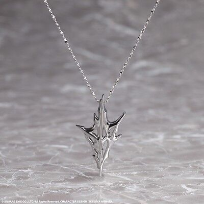 Authentic Final Fantasy 13 XIII 925 Silver Pendant Lightning Returns Necklace